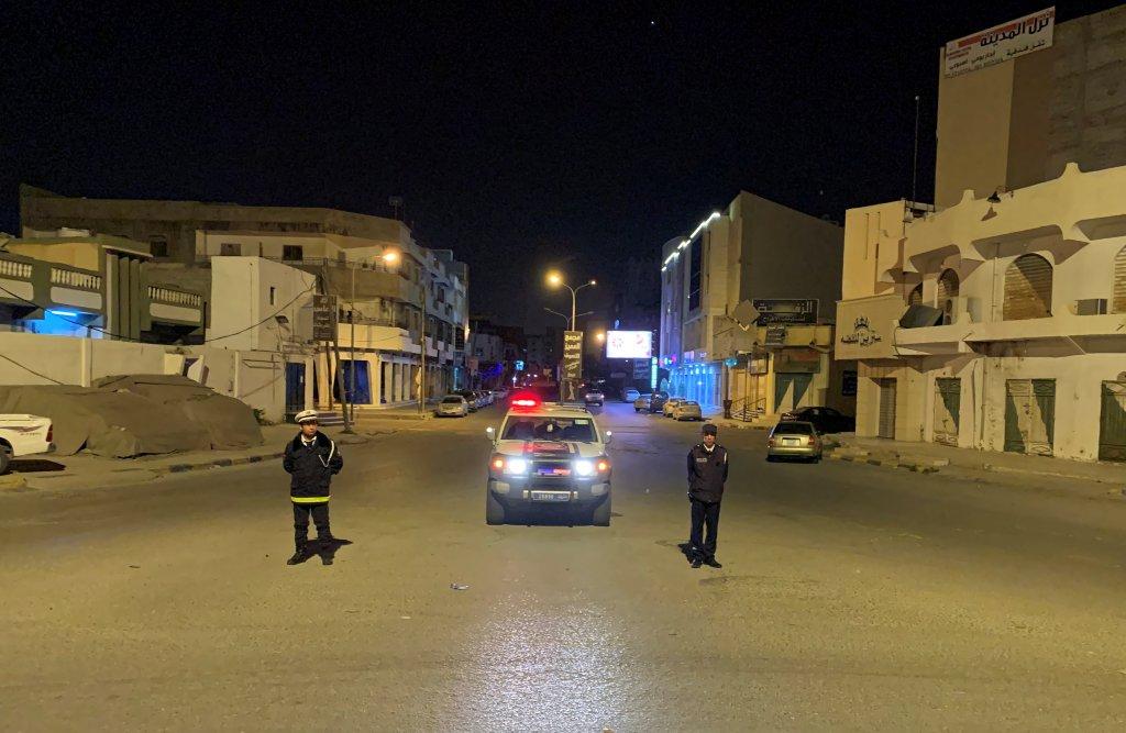 Couvre-feu dans la ville de Misrata, en Libye, le 22 mars 2020. Photo : Reuters