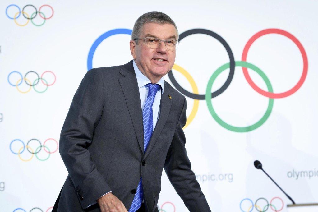 رئيس اللجنة الأوليمبية الدولية الألماني توماس باخ. المصدر: إي بي إيه/ لورينت جيليرون