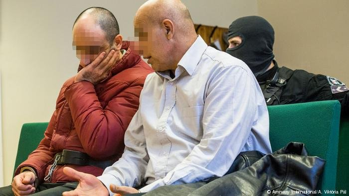 Ahmed H. sits in Hungarian court in October 2017