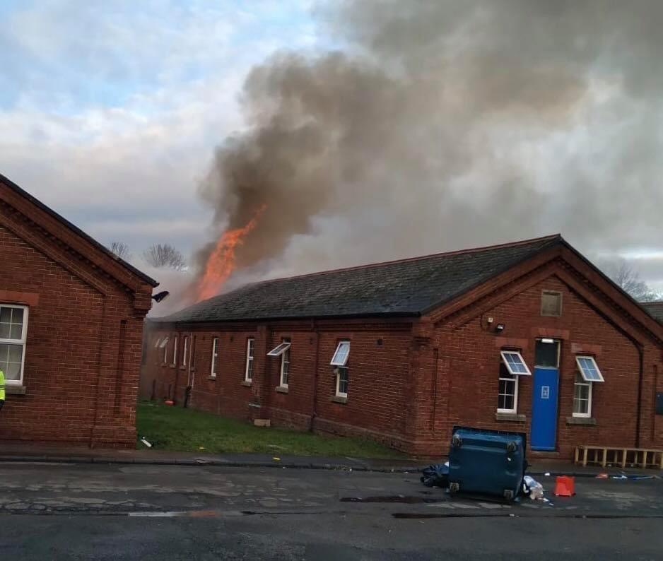حريق في جزء من ثكنات نابير يوم الجمعة ، 29 يناير 2021