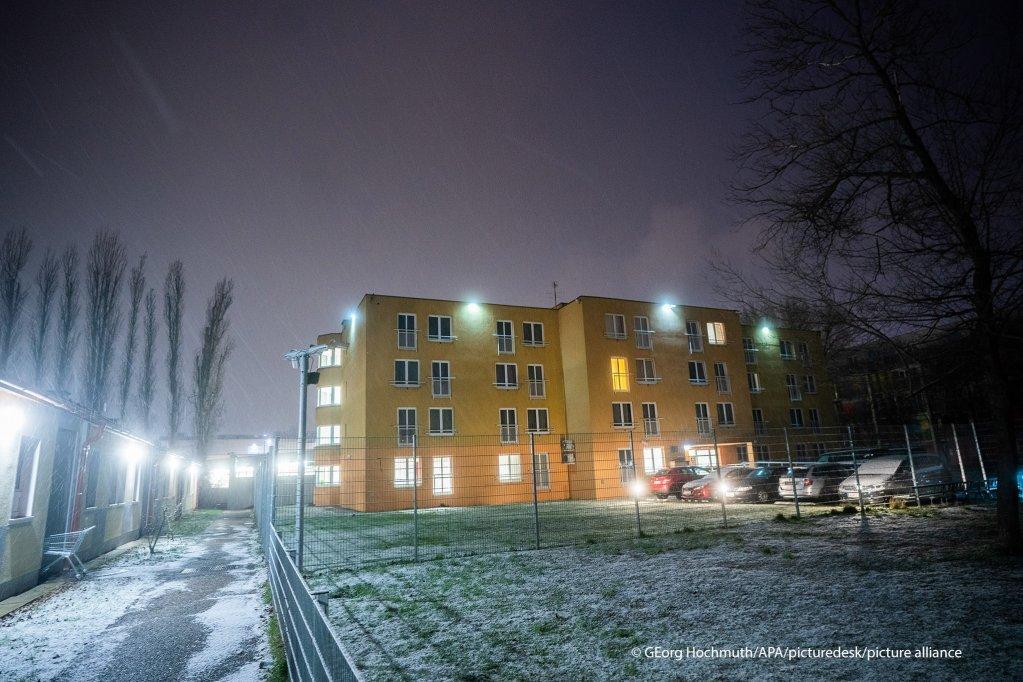 Dans ce centre de détention à Vienne, des demandeurs d'asile déboutés attendent d'être expulsés. Crédit : Picture alliance