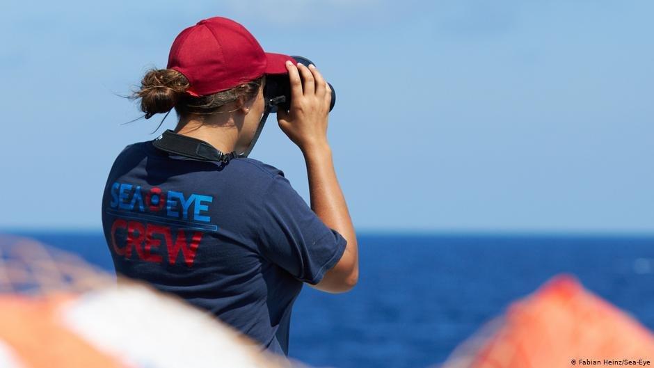 A rescue worker from the Sea-Eye crew   Photo: Fabian Heinz/Sea-Eye