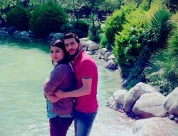 صلاح وزوجته فيدان في حلب قبل نزوحهم وهروبهم من الحرب في سوريا