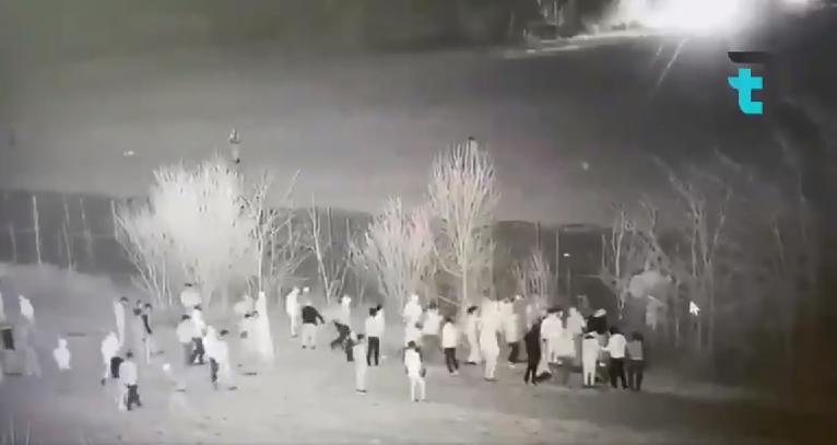 Capture d'écran d'une vidéo partagée sur Twitter qui montrerait soi-disant des abus commis par la police grecque contre les migrants, mars 2020