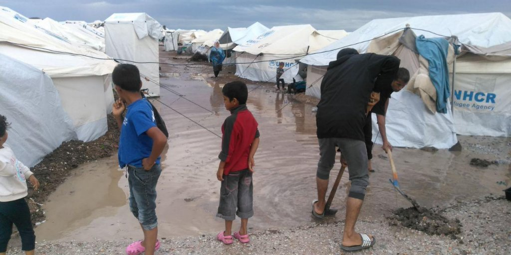 With flooding hitting the Kara Tepe camp, migrants and refugees say that their living conditions are even getting worse | Photo: Infomigrants