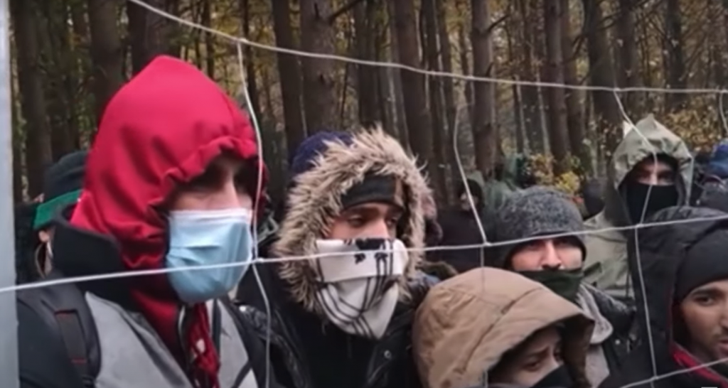 Migrants in Poland | Source: Screenshot report DW