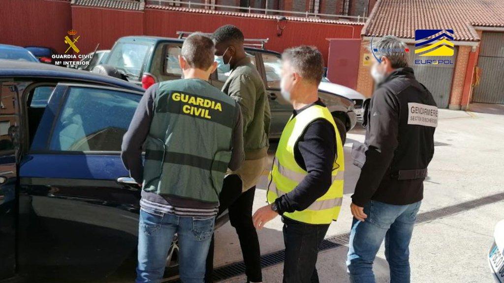 Entre le 11 et le 15 octobre, la Garde civile espagnole a procédé à l'arrestation de sept passeurs présumés, dans la région du Pays basque. Crédit : Garde civile