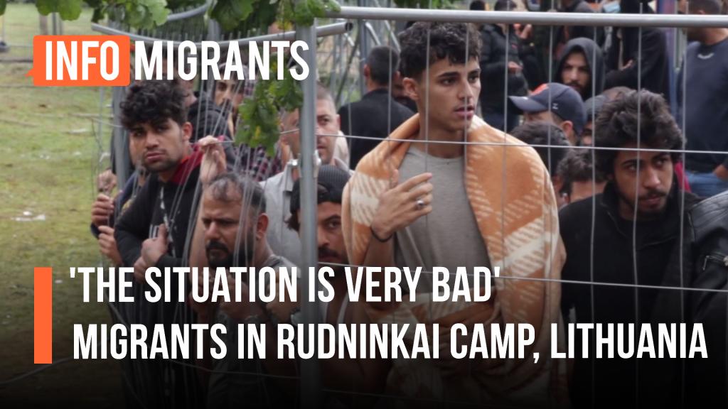 InfoMigrants visited Rudninkai camp on August 9, 2021 | Source: Video report InfoMigrants