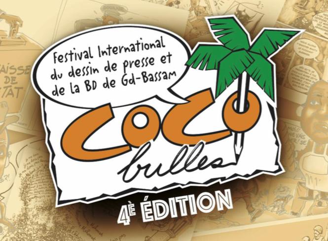 Cocobulles |L'affiche du festival Cocobulles lors d'une précédente édition en Côte d'Ivoire, à Grand-Bassam, du 16 au 18 mars 2017.