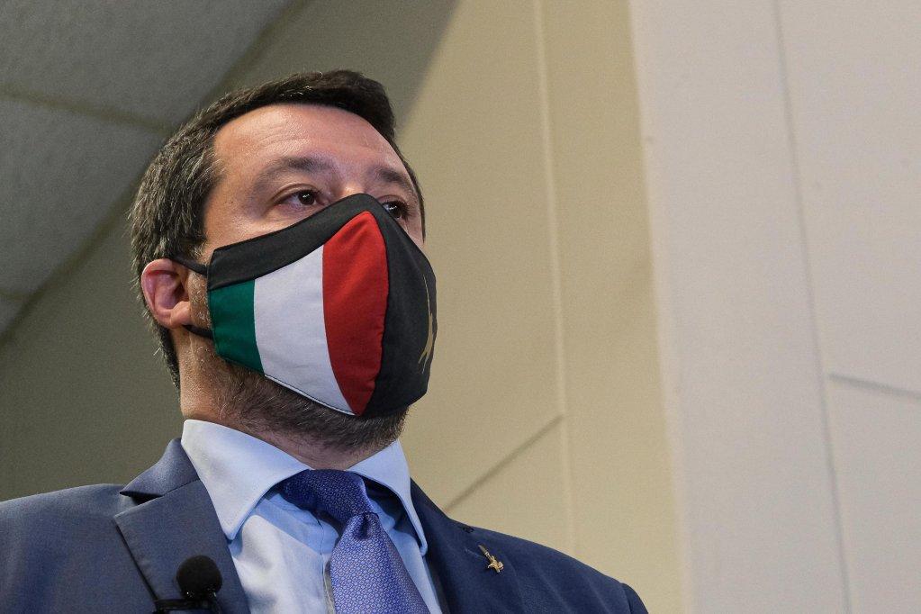 Matteo Salvini à Palerme en avril 2021. Crédit : Ansa