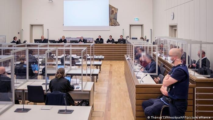 جانب من محاكمة عنصرين سابقين في المخابرات السورية في ألمانيا، أرشيف