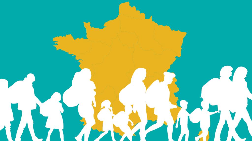 ارقام مهاجرت و پناهندگی در فرانسه در سال ٢٠١٩. تصویر از مهاجر نیوز