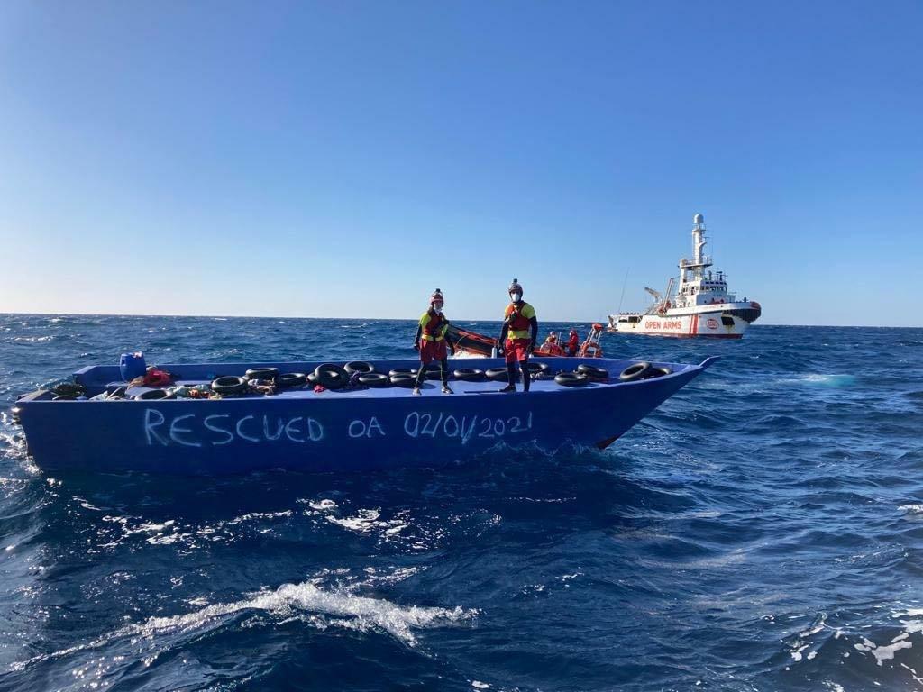 L'Open Arms a secouru 265 personnes lors de deux opérations de sauvetage au large de la Libye. Crédit : Open Arms