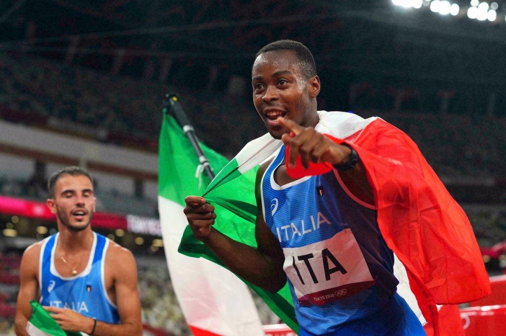 AP - Aleksandra Szmigiel |Eseosa Desalu, lors de son sacre en équipe aux 4x100.