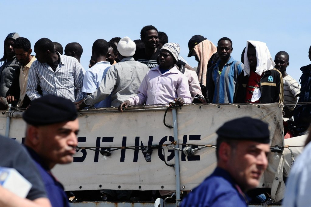 Disembarkation in Palermo of 367 migrants rescued in the Strait of Sicily   ARCHIVE/ANSA/MIKE PALAZZOTTO