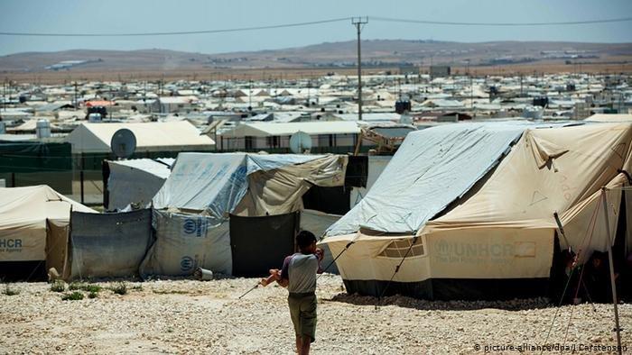 مخيم الزعتري للاجئين السوريين في الأردن