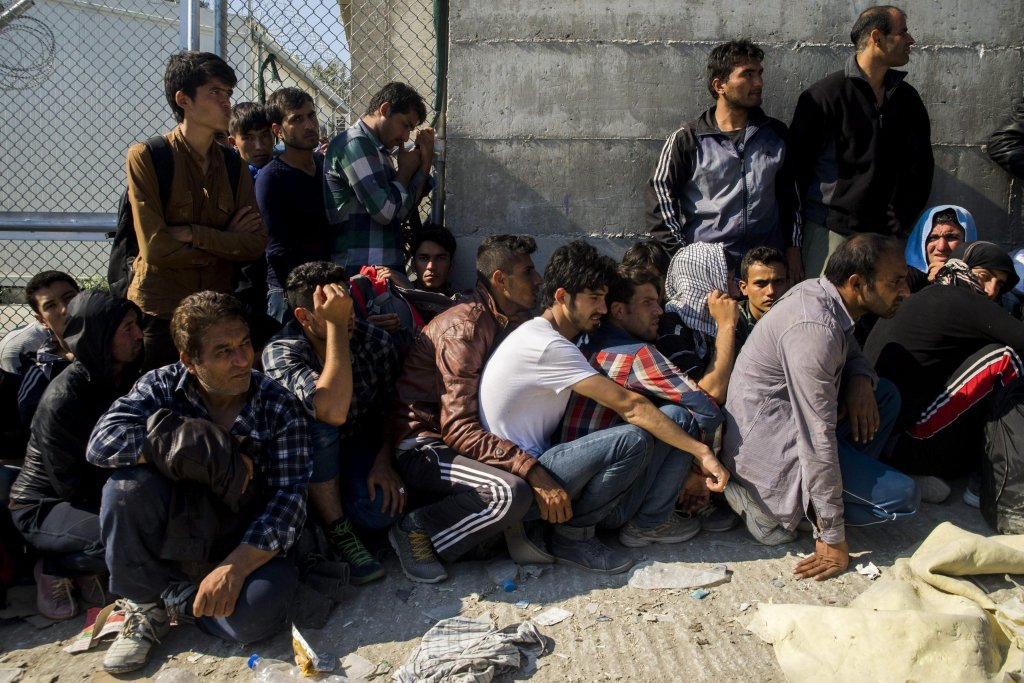 Migrants waiting to be registered in a camp set up for refugees from Afghanistan near Moria on the island of Lesbos, Greece | Credit: Photo archive/EPA