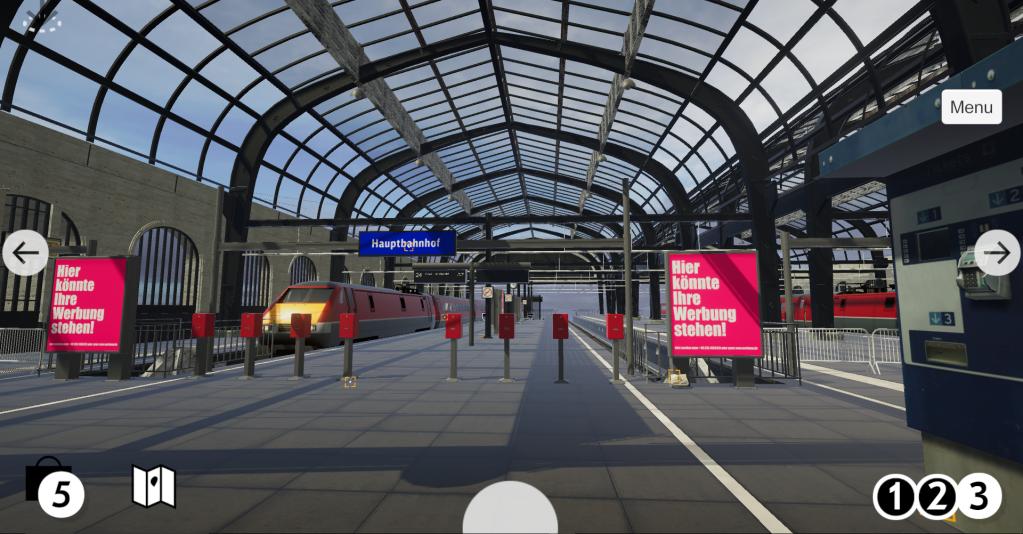 La gare thématise la mobilité, les départs et les arrivées.  Crédit: DOMID e.V.
