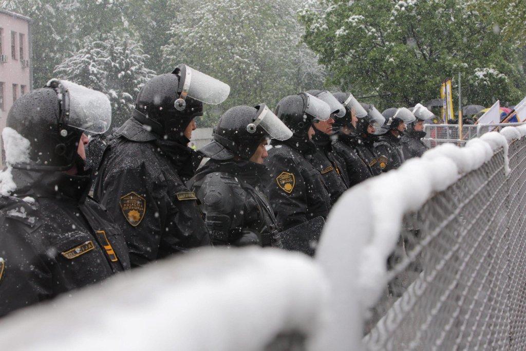 Bosnian police in Sarajevo. Photo: EPA/FEHIM DEMIR