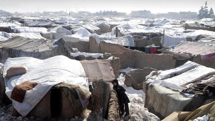 عکس آرشیف: یک اردوگاه آوارگان داخلی در اطراف کابل پایتخت افغانستان
