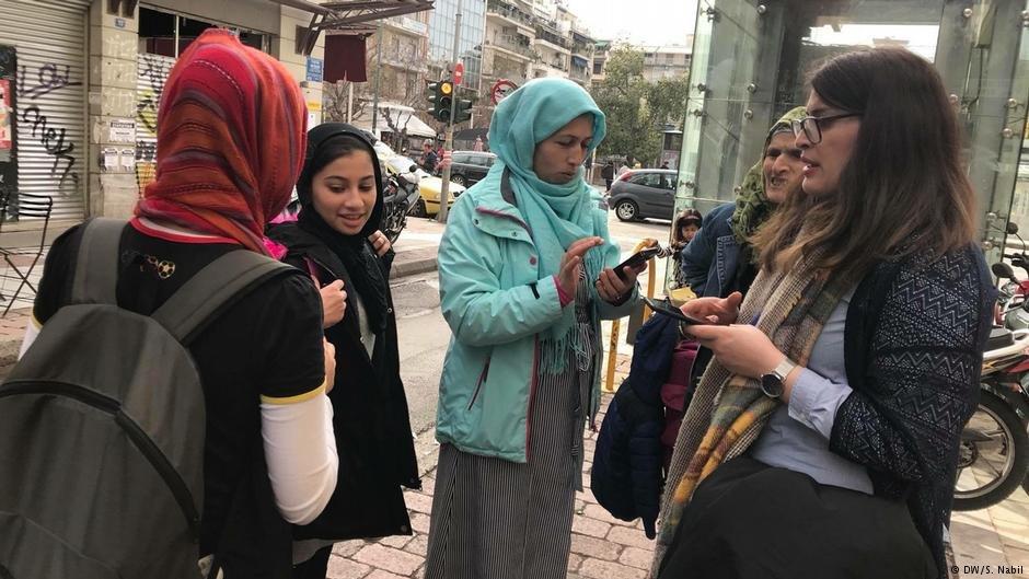 دیدار با زنان مهاجر افغان در یونان