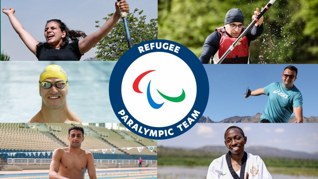 The six members of the Tokyo 2020 Refugee Paralympic Team | Photo: getty/UNHCR/IPC