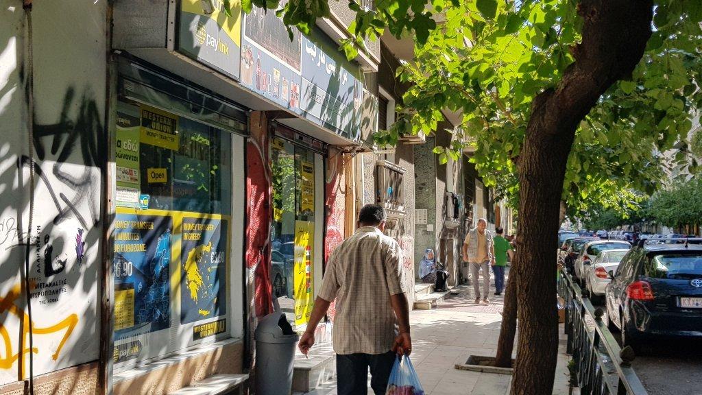 أحد شوارع العاصمة اليونانية أثينا. المصدر: عاصم سليم