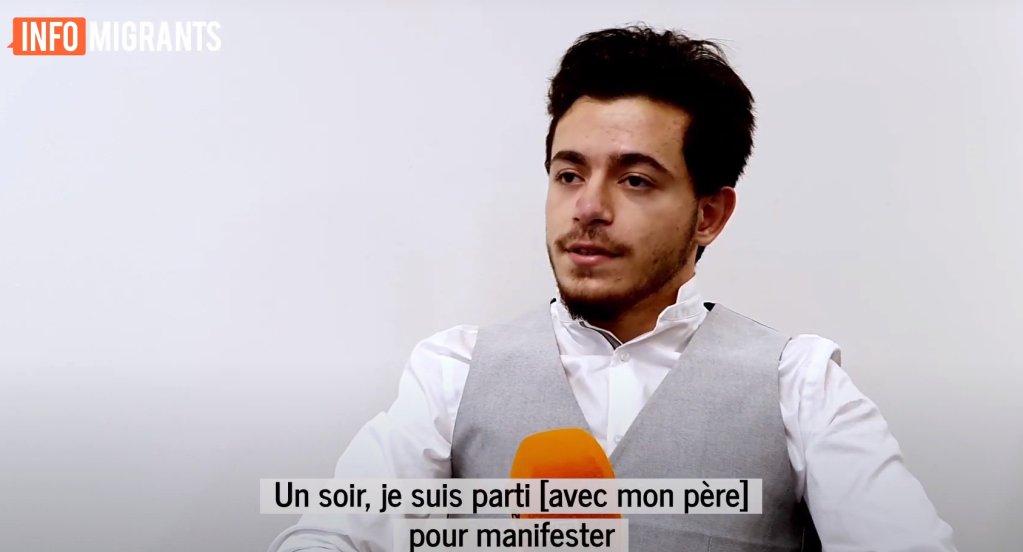 Mohamed-Nour Hayed, Syrien de 18 ans, est réfugié en France depuis 2012. Crédit : InfoMigrants