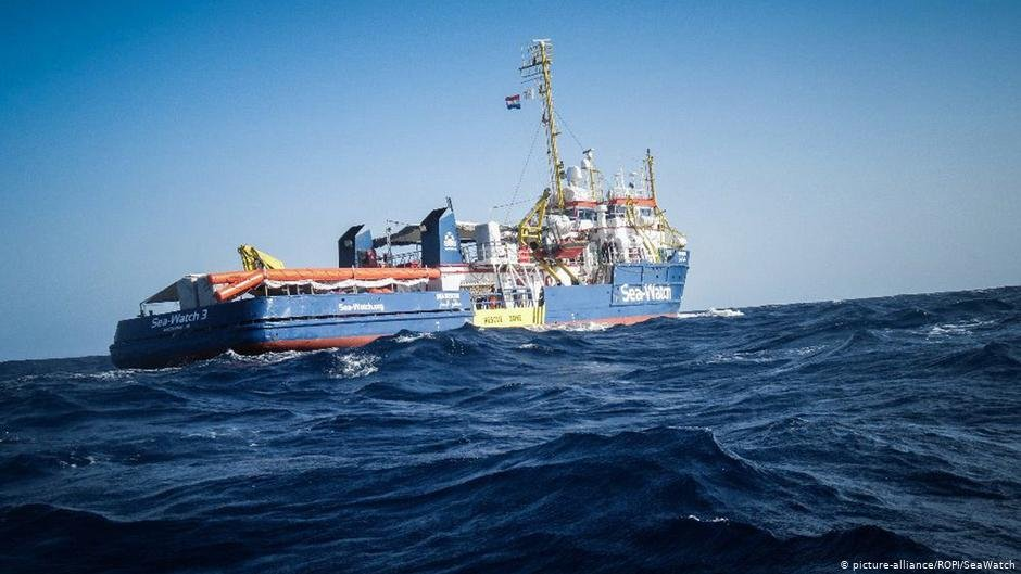 The Sea-Watch 3 rescue vessel at sea | Photo: Picture-alliance/ROPI/SeaWatch