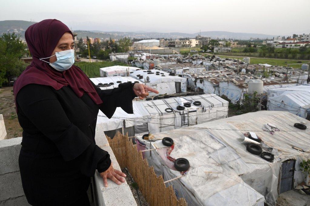 مخيم للاجئين السوريين في منطقة عكار في شمال لبنان. المصدر: إي بي إيه / وائل حمزة.