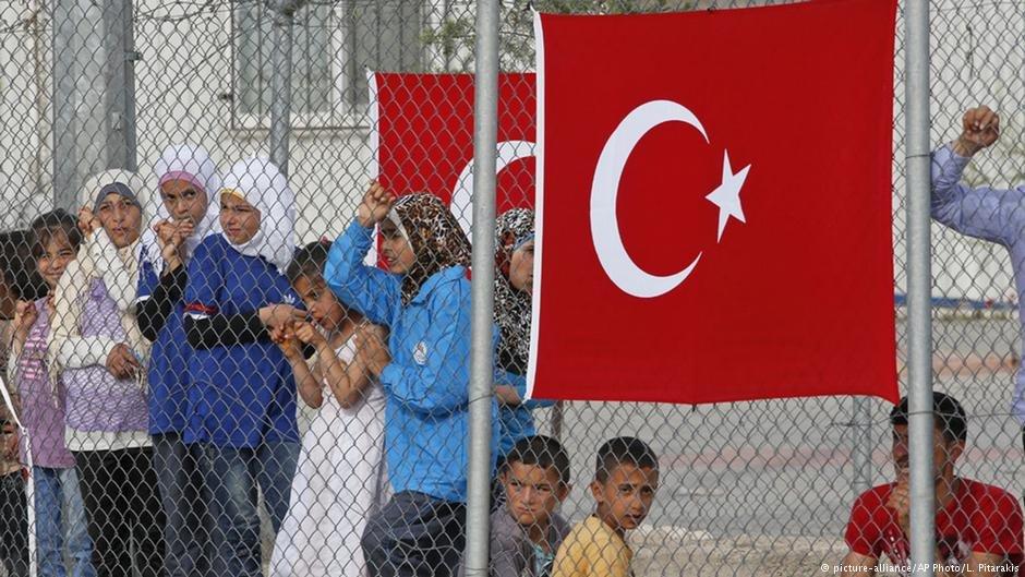 کودکان پناهجو دریکی از کمپ های مهاجرین در ترکیه