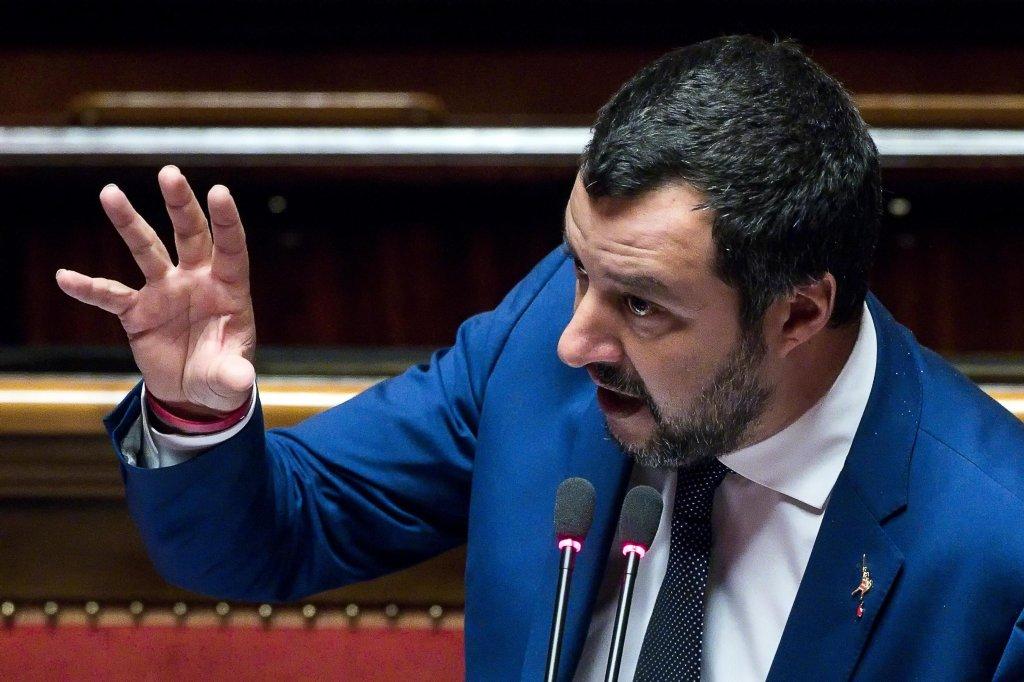 وزير الداخلية الإيطالي ماتيو ساليفيني/ أنسا