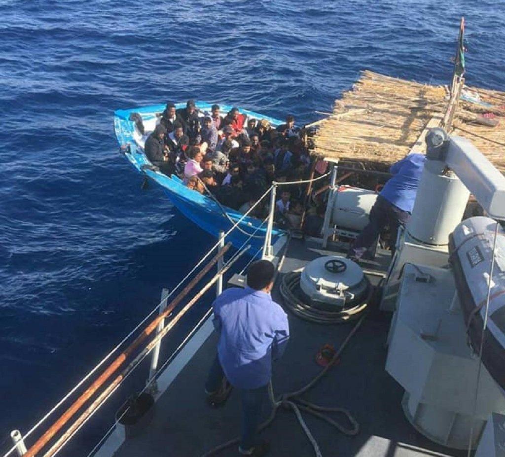 الصورة مأخوذة عن صفحة البحرية الليبية على فيسبوك