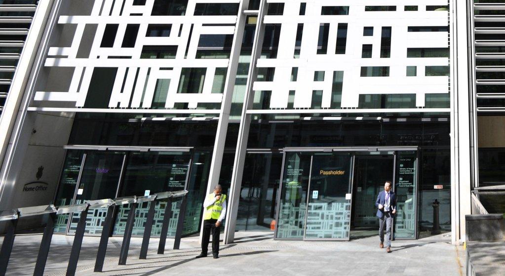 مقر وزارة الداخلية البريطانية في ويستمنستر في العاصمة لندن. المصدر: إي بي أيه/ فاكوندو اريزا بالاجا.