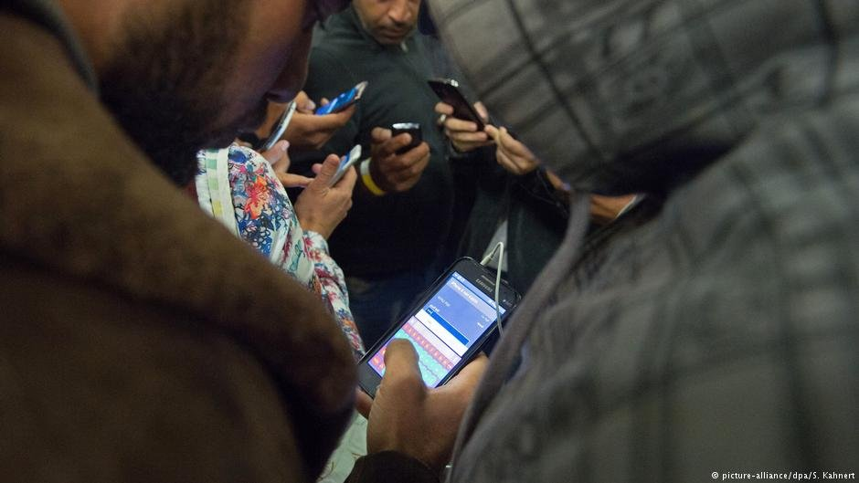 Some refugees worry that their phones put them at risk