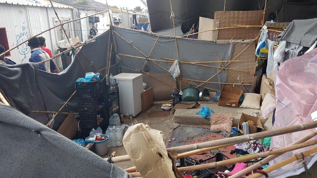 مخيم جزيرة كوس اليونانية. الصورة أرسلها لنا رائد