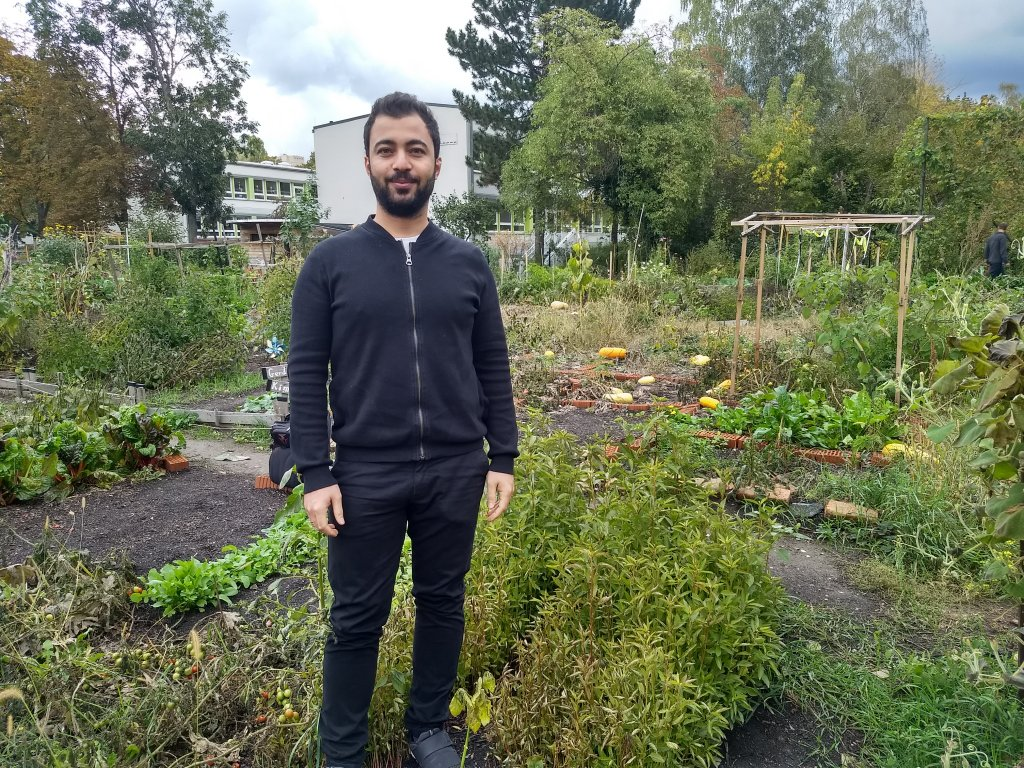 There are people from 20 different nationalities who garden on plots at the International Garden in Dresden, Salwan from Syria is one of them | Photo: Emma Wallis