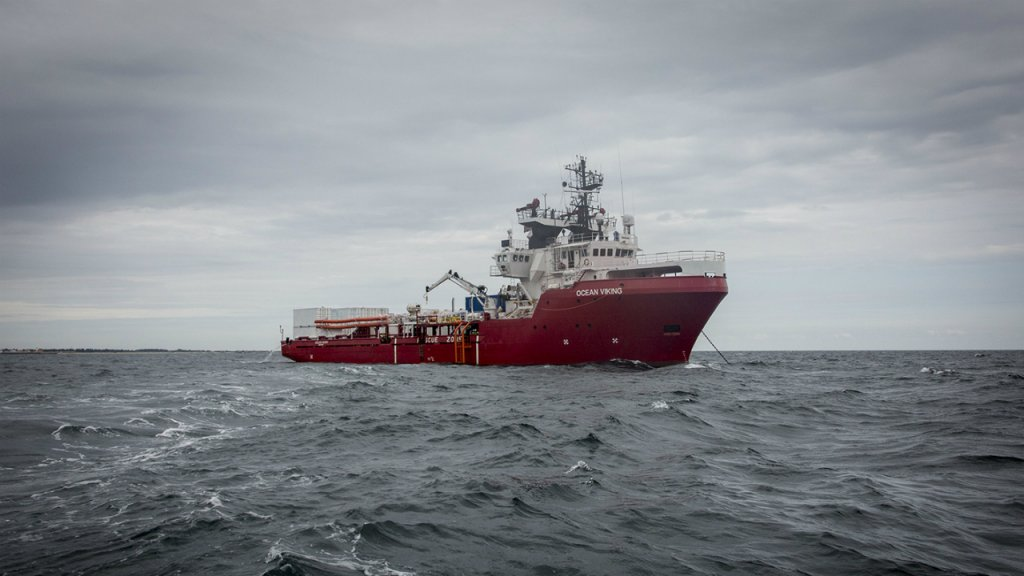 L'Ocean Viking de SOS Méditerranée et MSF a pris la mer le 18 juillet 2019. Crédit : Anthony Jean / SOS Méditerranée