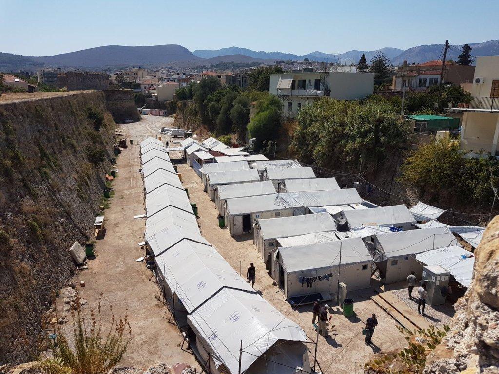Le camp - aujourd'hui fermé - de migrants de Souda, sur l'île de Kios. Crédit : InfoMigrants