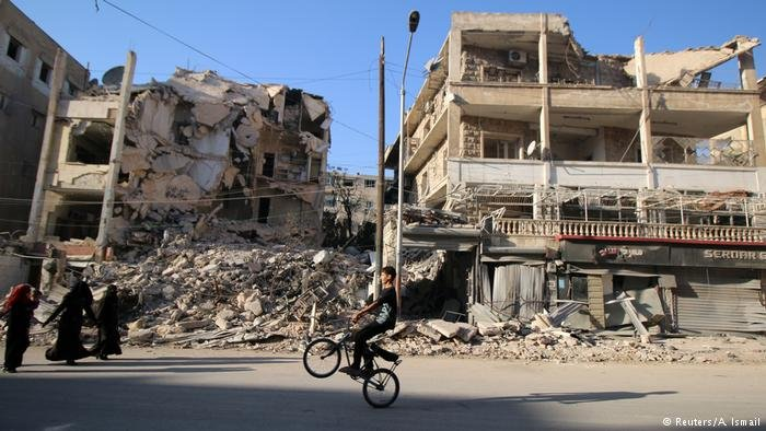 Many homes have been destroyed in Syria's seven-year civil war