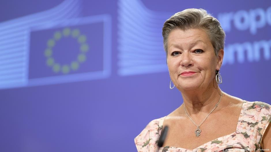 Ylva Johansson is the EU Commissioner for Home Affairs | Photo: picture-alliance/dpa/T. Monasse