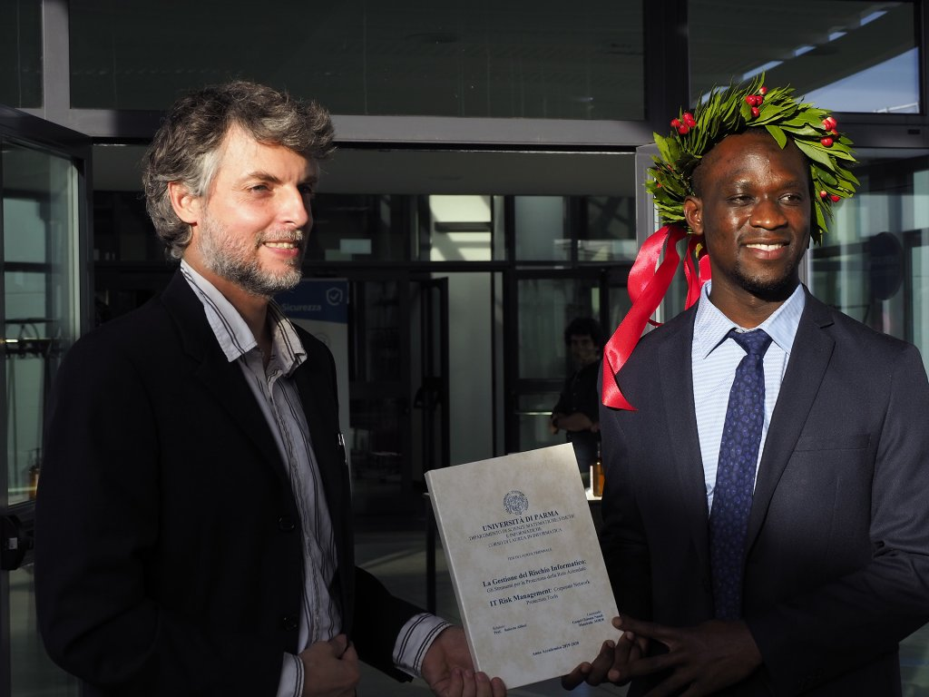 Gospel Ozioma Nnadi at the graduation ceremony | Source: University of Parma