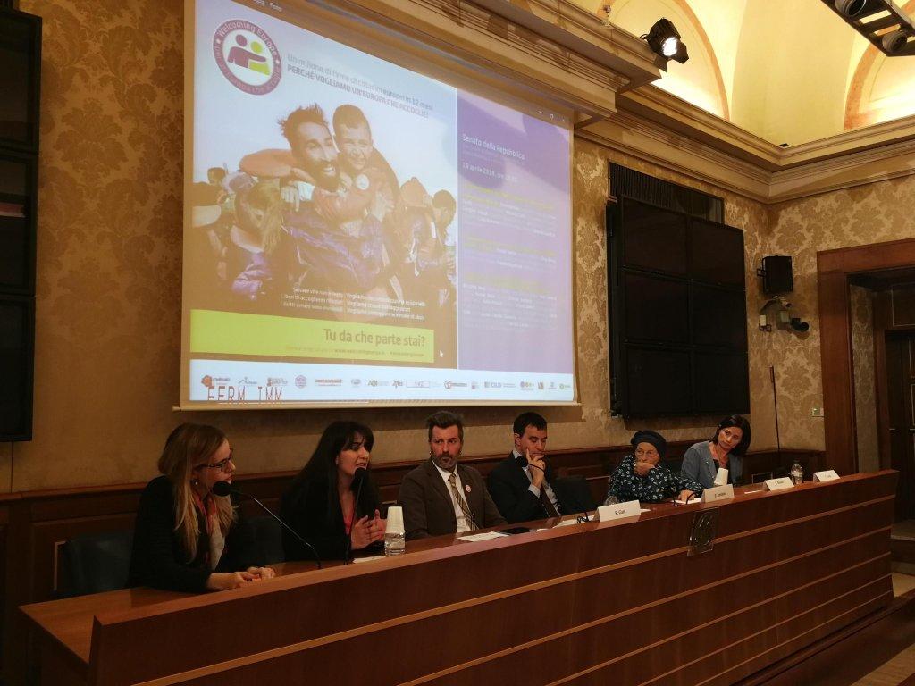 The presentation of the initiative at the Senate. Credit: ANSA