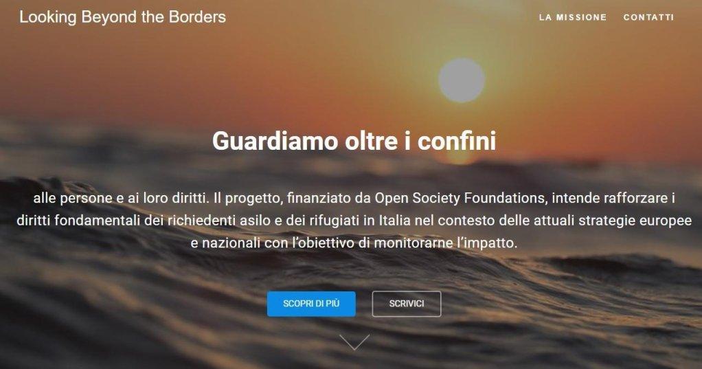"ansa / صورة من حملة ""النظر إلى ما وراء الحدود"" على شبكة الإنترنت. المصدر: المجلس الإيطالي للاجئين."