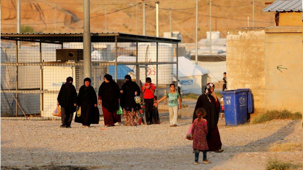 لاجئون عراقيون في المخيمات/رويترز، عبد الله رشيد