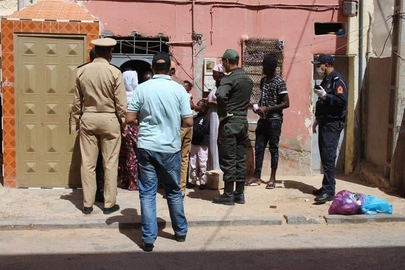 عملية اعتقال مهاجرين لم يتم تحديد تاريخها. المصدر/  الجمعية المغربية لحقوق الإنسان