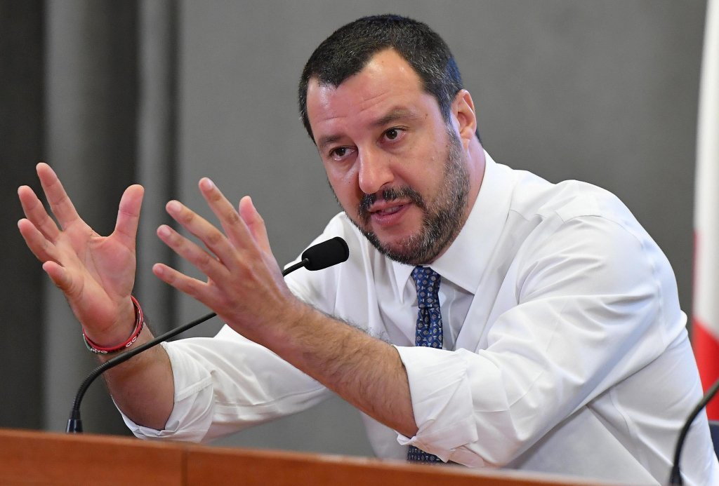 Italian Interior Minister Matteo Salvini wants a more ogranized plan for sea rescues. Photo credit: ANSA | MATTEO SALVINI