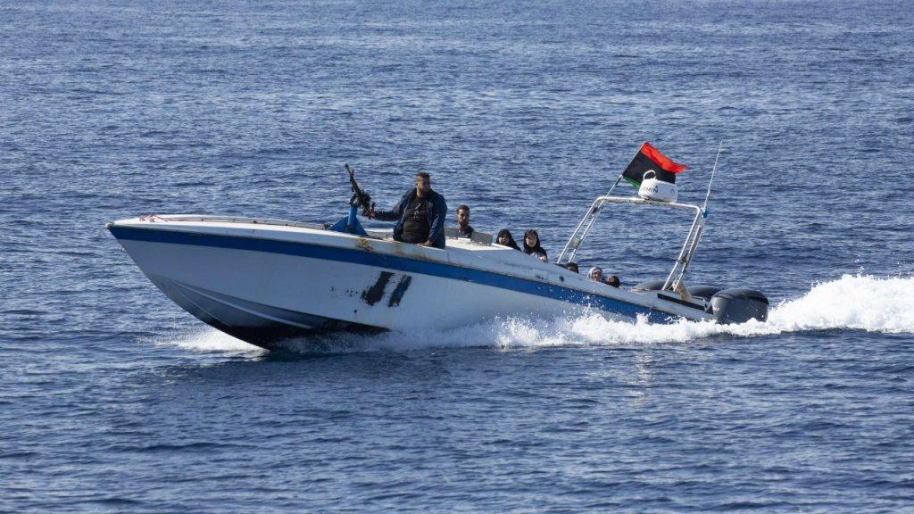 کشتی آلن کردی توسط شبه نظامیان لیبیا روز شنبه ٢٦ اکتبر مورد حمله قرار گرفت. عکس از سازمان  Sea-Eye