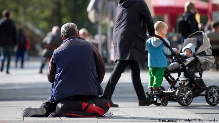 صورة رمزية لمتسول في مدينة درسدن الألمانية