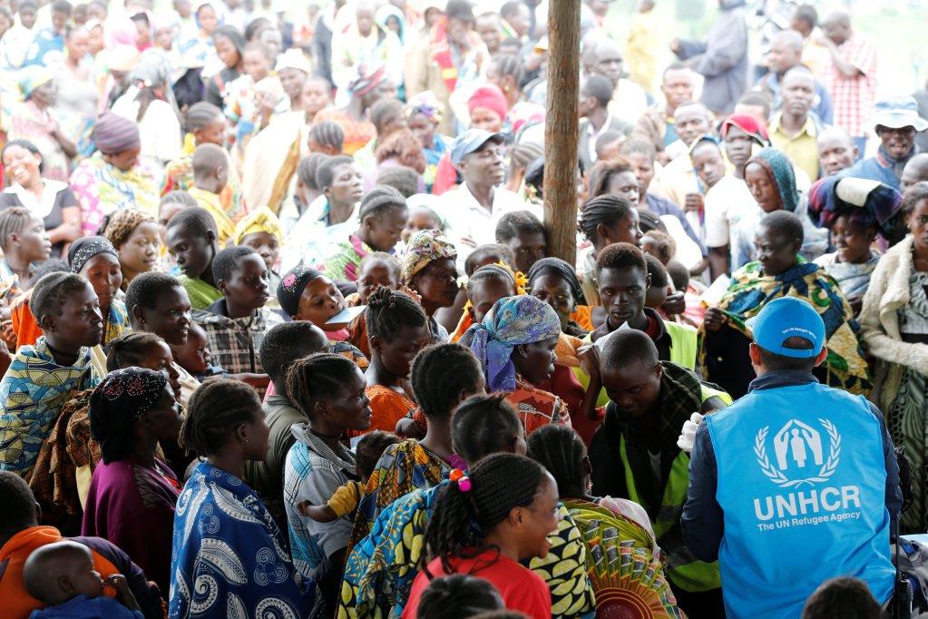Des réfugiés congolais dans le camp de Kyangwali (Ouganda) géré par le HCR, en mars 2018. Crédit : Reuters